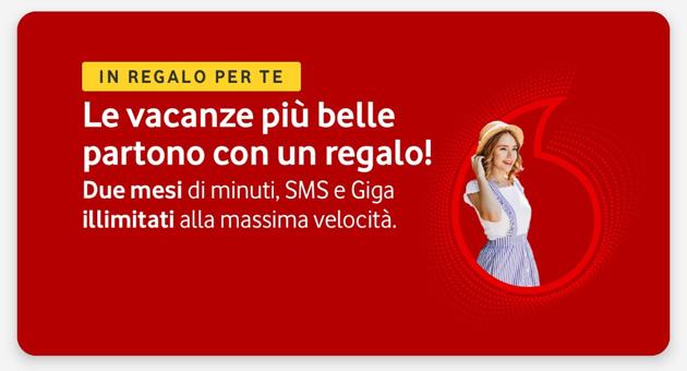Vodafone Infinito 2 Mesi Gratis: Minuti, SMS e Giga senza limiti a 0 euro per tutta l'Estate