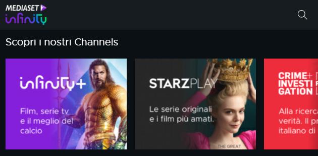 Mediaset Play Infinity si aggiorna con nuovi Channels