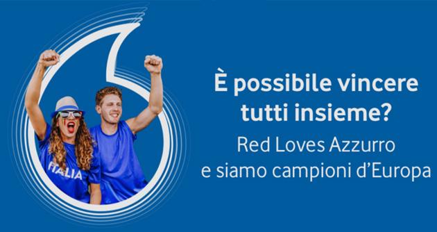 Vodafone per festeggiare l'Italia Campione d'Europa invita i clienti a brindare insieme