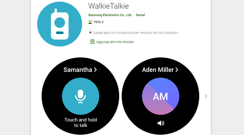 Samsung lancia app WalkieTalkie per Galaxy Watch4