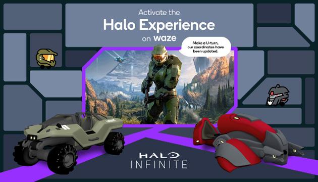 Halo arriva su Waze con Mood e auto ispirati al famoso videogioco