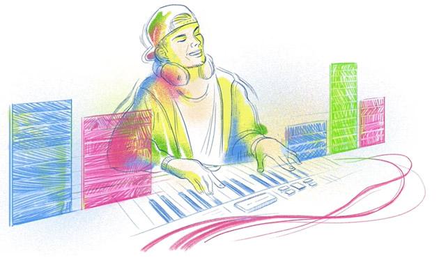 Google dedica Doodle a Tim Bergling (Avicii) nato 32 anni fa
