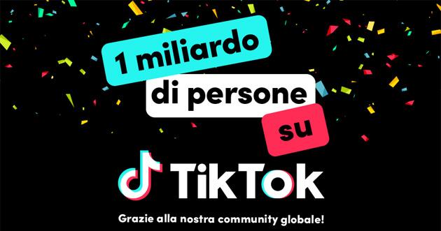 TikTok supera quota 1 miliardo di utenti