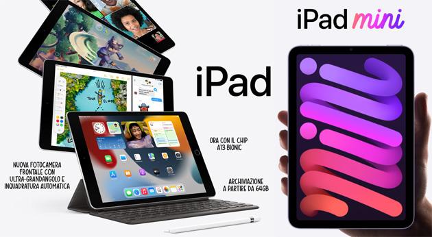 Apple iPad e iPad Mini 2021 ufficiali: Foto, Specifiche, Caratteristiche e Prezzi in Italia