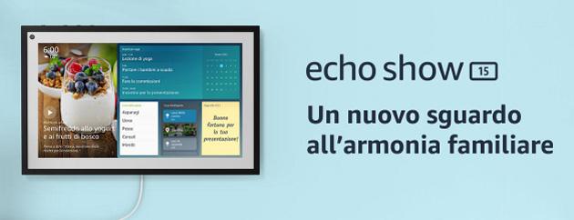 Amazon presenta Echo Show 15, smart display con Alexa da appendere al muro progettato per l'organizzazione in famiglia