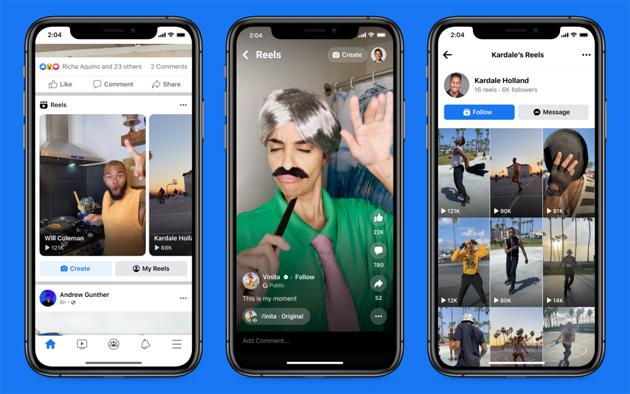 Facebook lancia Reels negli Stati Uniti