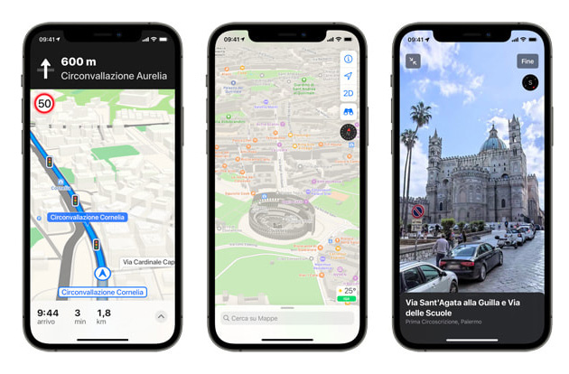 Apple aggiorna Mappe in Italia con indicazioni per scegliere la corsia, Guardati intorno e altre nuove funzioni