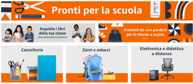 Come comprare Libri Scolastici su Amazon.it e altri prodotti per la Scuola