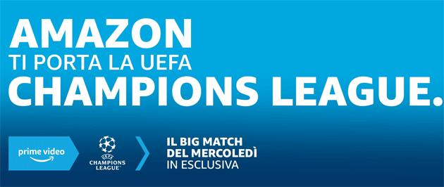 Su Amazon Prime Video, Mediaset Infinity e Sky NOW la Uefa Champions League triennio 2021-24