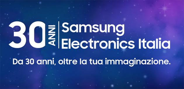 Samsung Elecronics Italia compie 30 anni e festeggia scontando prodotti su Samsung Shop Online
