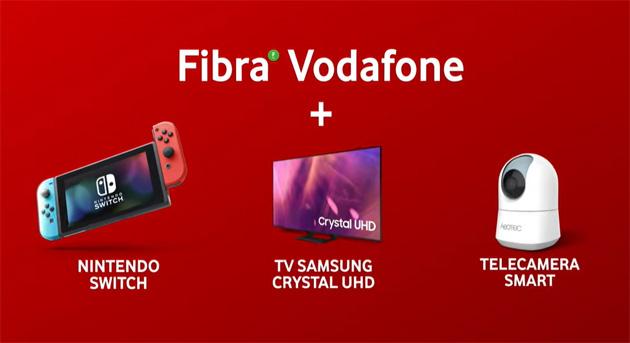 Vodafone Fibra, con le nuove offerte Smart TV, console e Smart Camera si possono acquistare a rate