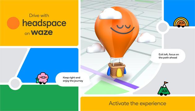Waze sceglie Headspace per sconfiggere lo stress alla guida