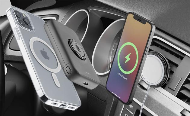 Cellularline lancia accessori per iPhone compatibili con sistema MagSafe di Apple, custodie per AirTag e gamma di prodotti per il lavoro da casa come in ufficio