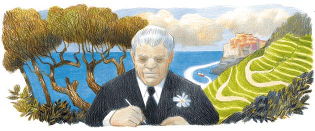 Google dedica Doodle a Eugenio Montale nel 125o anniversario della sua nascita