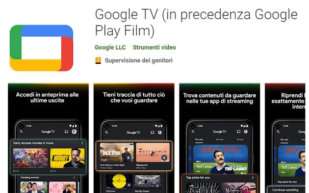 App Play Film diventa Google TV in Italia
